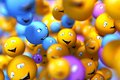 Smily faces social network concept Royalty Free Stock Photos