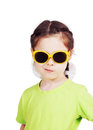 Smirking cute little girl with sunglasses Royalty Free Stock Photo