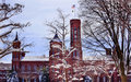 Smithsonian Castle Snowy Trees Washington DC Royalty Free Stock Image