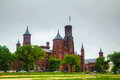 Smithsonian institution die het kasteel bouwen in washington gelijkstroom Stock Foto