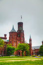 Smithsonian institution som bygger slotten i washington dc Royaltyfri Bild