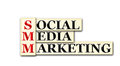 Smm conceptual social media marketing acronym on white Royalty Free Stock Images