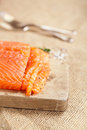 Smocked salmon homemade sliced Royalty Free Stock Image