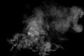 Smoke Against a Black Background Royalty Free Stock Photo