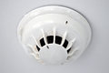 Smoke alarm a ceiling mounted Stock Images