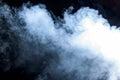 Smoke on a black background Royalty Free Stock Photo