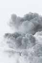 Smoke cloud explosion shape Royalty Free Stock Photo