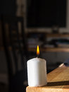 Smoke coming from a blown out candle Royalty Free Stock Photo
