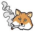 Smoke fox creative design of Stock Image