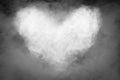 Smoke heart shape. Royalty Free Stock Photo