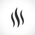 Smoke hot vector icon