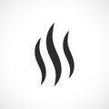 Smoke hot vector icon Royalty Free Stock Photo