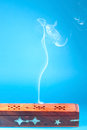 Smoke of Indian incense Stock Photography