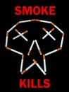 Smoke kills - poster. Royalty Free Stock Image