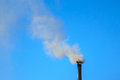 Smoke of pipe Royalty Free Stock Photo