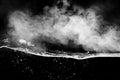 Smoke and water. Royalty Free Stock Photo