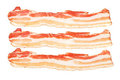Smoked bacon isolated on white Stock Photography
