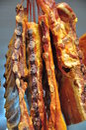 Smoked dry ribs Stock Photo