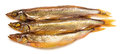 Smoked fish isolated on white background Royalty Free Stock Images