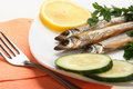 Smoked fishes Stock Images
