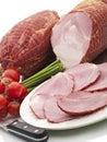 Smoked Ham Slices Stock Photography