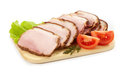 Smoked meat slices Stock Photo