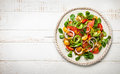 Smoked salmon and avocado salad Royalty Free Stock Photo