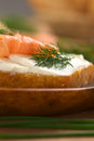 Smoked Salmon and Cream Cheese Canape Stock Images