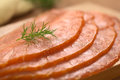 Smoked Salmon with Dill Stock Image