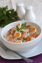 Smoked salmon kedgeree Stock Image