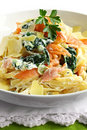 Smoked Salmon Linguine Stock Image