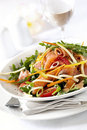 Smoked Salmon Salad Royalty Free Stock Images