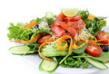 Smoked Salmon Salad Stock Image