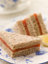 Smoked Salmon Sandwich on Brown Bread Royalty Free Stock Images
