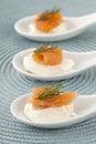 Smoked salmon sushi rolls Royalty Free Stock Photo