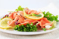 Smoked trout salad Royalty Free Stock Photo