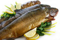 Smoked Trouts Royalty Free Stock Photos