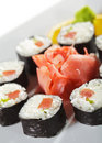 Smoked Tuna Maki Sushi Stock Photography