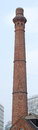 Smokestack made of brick antique a in city Stock Photo