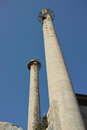 Smokestacks of a old factory Stock Photo