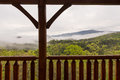 Smokey Mountains Cabin View Royalty Free Stock Photo
