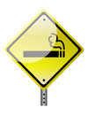 Smoking ahead illustration design over a white background Stock Images