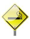 Smoking ahead Royalty Free Stock Photo