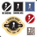 Smoking area sign. No smoking sign. Royalty Free Stock Image
