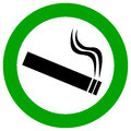 Smoking area vector sign Royalty Free Stock Photo