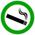Smoking area vector sign Royalty Free Stock Photo