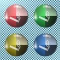 Smoking button,icon, sign, 3D illustration
