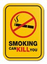 Smoking can kill you sign suitable for warning signs Stock Photo