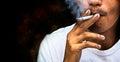 Smoking cigarette Royalty Free Stock Photo