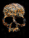 Smoking danger scary concept poster Stock Images